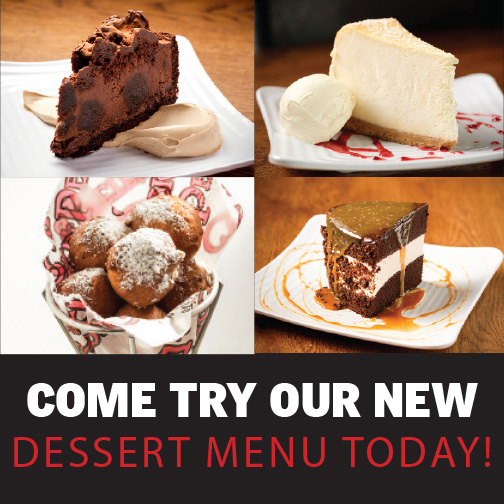 Chickie's & Pete's - Come try our new dessert menu today!